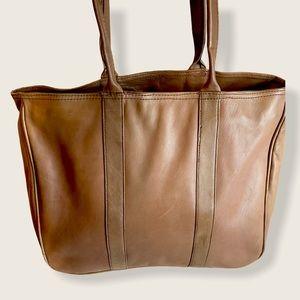 Vintage L.L. Bean Tan Leather Tote Bag
